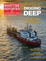 Maritime Reporter Magazine Cover Aug 2020 - The Shipyard Edition