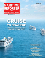 Maritime Reporter Magazine Cover Feb 2021 - Government Shipbuilding