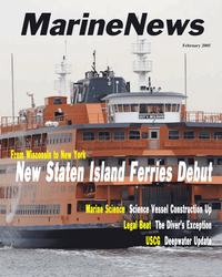 Marine News Magazine Cover Feb 2005 -