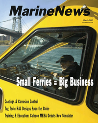 Marine News Magazine Cover Mar 2005 -