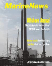 Marine News Magazine Cover Apr 2005 -