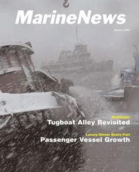 Marine News Magazine Cover Jan 2006 - North American Passenger Vessel Report