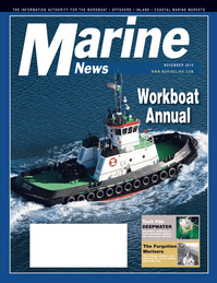 Marine News Magazine Cover Nov 2010 - Workboat Annual