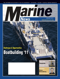 Marine News Magazine Cover Jan 2011 - Vessel Construction & Repair