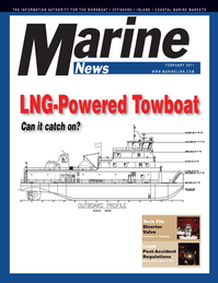 Marine News Magazine Cover Feb 2011 - Inland Waterways