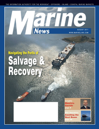 Marine News Magazine Cover Aug 2011 - Marine Salvage & Recovery Edition