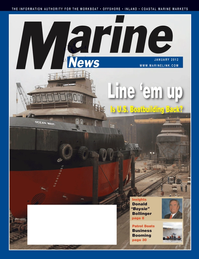 Marine News Magazine Cover Jan 2012 - Vessel Construction & Repair