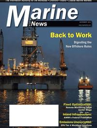 Marine News Magazine Cover Nov 2013 - Fleet Optimization Roundtable