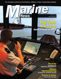 Marine News Magazine Cover Jan 2014 - Tug Boat Technology