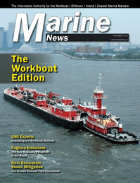 Marine News Magazine Cover Nov 2014 - Workboat Annual
