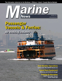 Marine News Magazine Cover Jan 2015 - Passenger Vessels & Ferries