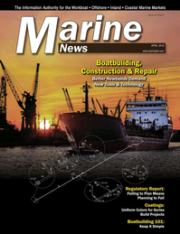 Marine News Magazine Cover Apr 2018 - Boatbuilding, Construction & Repair