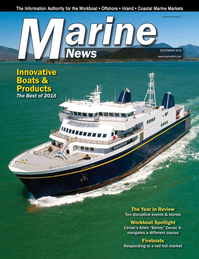 Marine News Magazine Cover Dec 2018 - Innovative Products & Boats