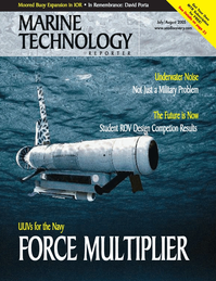 Marine Technology Magazine Cover Jul 2005 -