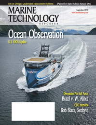Marine Technology Magazine Cover Sep 2010 - Ocean Observation