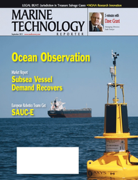 Marine Technology Magazine Cover Sep 2011 - Ocean Observation