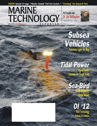 Marine Technology Magazine Cover Mar 2012 - Subsea Vehicle Report – Unmanned Underwater Systems