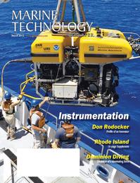 Marine Technology Magazine Cover Mar 2013 - Instrumentation: Measurement, Processing & Analysis