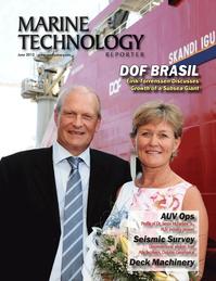 Marine Technology Magazine Cover Jun 2013 - AUV Operations