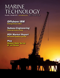 Marine Technology Magazine Cover Nov 2013 - Fresh Water Monitoring & Sensors