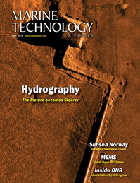 Marine Technology Magazine Cover Jun 2014 - Hydrographic Survey