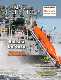 Marine Technology Magazine Cover May 2015 - Underwater Defense