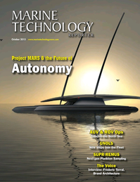 Marine Technology Magazine Cover Oct 2015 - AUV Operations