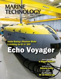 Marine Technology Magazine Cover May 2016 - Underwater Defense