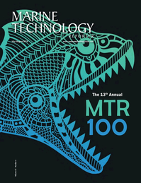Marine Technology Magazine Cover Jul 2018 - MTR100: Listing of 100 Leading Subsea Companies