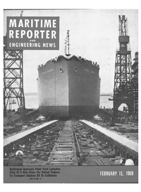 Maritime Reporter Magazine Cover Feb 15, 1969 -