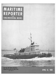 Maritime Reporter Magazine Cover Apr 15, 1969 -