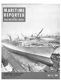 Maritime Reporter Magazine Cover May 15, 1969 -
