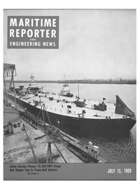 Maritime Reporter Magazine Cover Jul 15, 1969 -