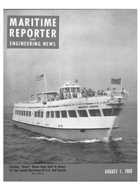 Maritime Reporter Magazine Cover Aug 1969 -