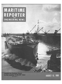 Maritime Reporter Magazine Cover Aug 15, 1969 -