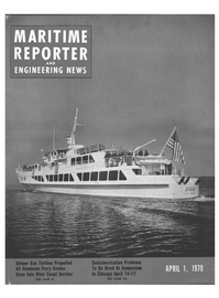 Maritime Reporter Magazine Cover Apr 1970 -