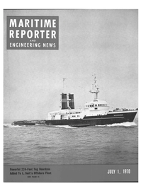 Maritime Reporter Magazine Cover Jul 1970 -