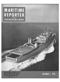 Maritime Reporter Magazine Cover Oct 1970 -
