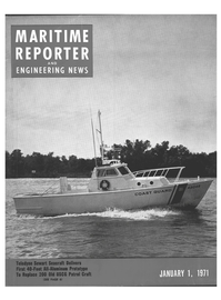 Maritime Reporter Magazine Cover Jan 1971 -