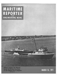 Maritime Reporter Magazine Cover Mar 15, 1971 -