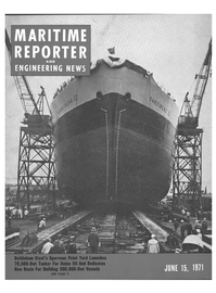 Maritime Reporter Magazine Cover Jun 15, 1971 -