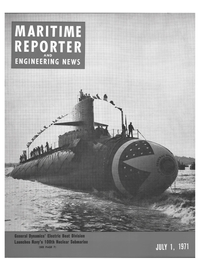 Maritime Reporter Magazine Cover Jul 1971 -