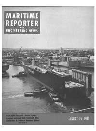 Maritime Reporter Magazine Cover Aug 15, 1971 -