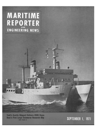 Maritime Reporter Magazine Cover Sep 1971 -