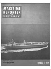 Maritime Reporter Magazine Cover Oct 1971 -