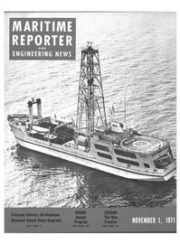 Maritime Reporter Magazine Cover Nov 1971 -