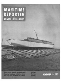 Maritime Reporter Magazine Cover Nov 15, 1971 -