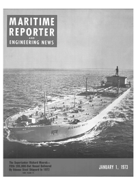 Maritime Reporter Magazine Cover Jan 1973 -