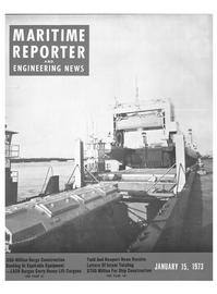 Maritime Reporter Magazine Cover Jan 15, 1973 -