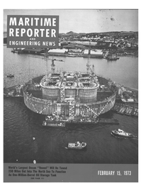 Maritime Reporter Magazine Cover Feb 15, 1973 -